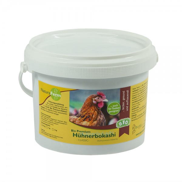 Hühnerbokashi 1 Kg hochwertiges Ergänzungsfutter