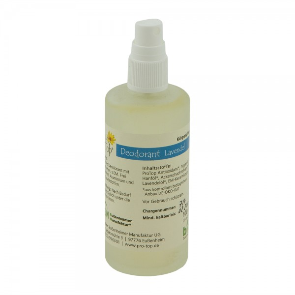 Pro Top Deo Lavendel 100 ml Bio Deodorant